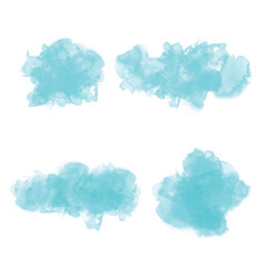 hand drawing watercolor background set vector image