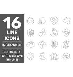 home insurance icons life insurance vector image