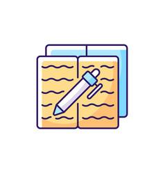 Homework rgb color icon vector