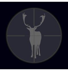 hunting season with deer gray in gunsight eps10 vector image