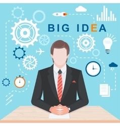 Infographic Concept Big Idea vector image