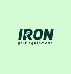 Iron logo vector
