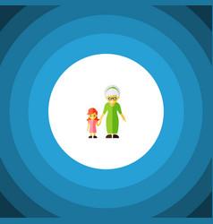 isolated grandma flat icon grandchild vector image