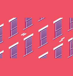 Isometric building facade vector