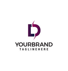 letter d logo design concept template vector image