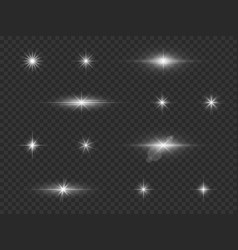 light effect xmas glowing stardust white galaxy vector image
