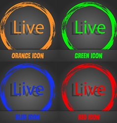 Live sign icon fashionable modern style in the vector