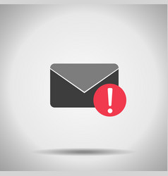 Mail alert icon vector
