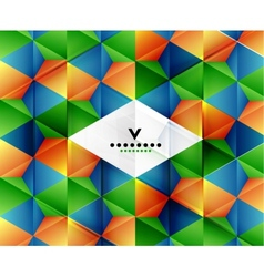 Modern geometric abstract background template vector image