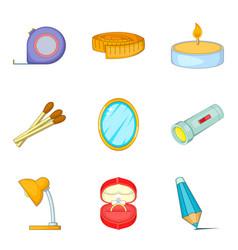 Multiroom icons set cartoon style vector