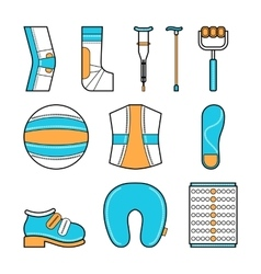 Orthopedic set of items for the medical vector