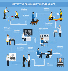 Police experts flat style infographics vector