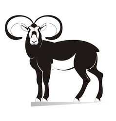 ram original black on white vector image