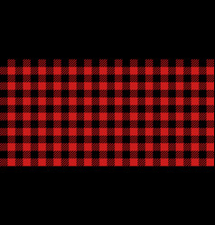Red and black lumberjack seamless pattern vector