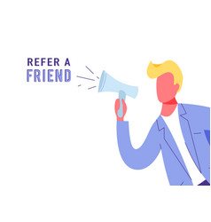 refer a friend marketing background vector image