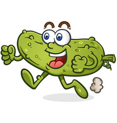 running pickle cartoon character vector image