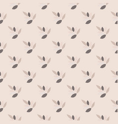 Seamless pattern with leafs ornament in lilac and vector