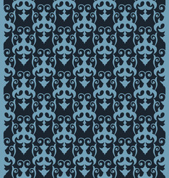 seamless pattern with ornament on a dark blue vector image