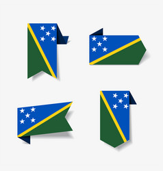 solomon islands flag stickers and labels vector image