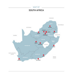 South africa map with red pin vector
