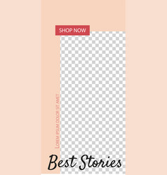 Stories for instagram pack for creature your vector