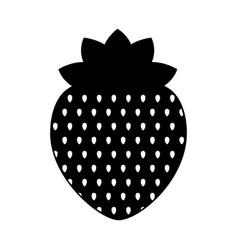 strawberry fresh fruit isolated icon vector image