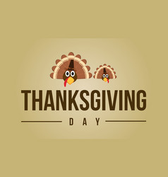 Thanksgiving day greeting card collection vector