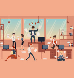 The concept office chaos in business with the vector