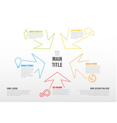 Thin line infographics template with colorful vector