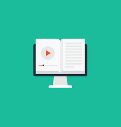 video tutorial online education concept flat vector image