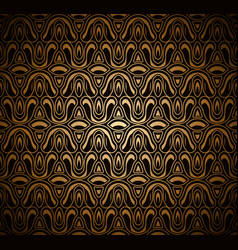 vintage gold ornamental background vector image