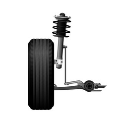 wheel alignment icon - car suspension service vector image