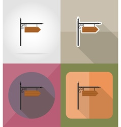 wooden board flat icons 12 vector image vector image