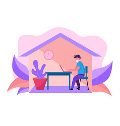Work from home vector