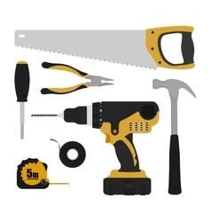Construction tools instruments set vector image