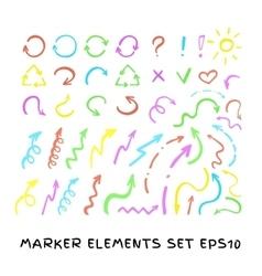 Marker Arrows set vector image