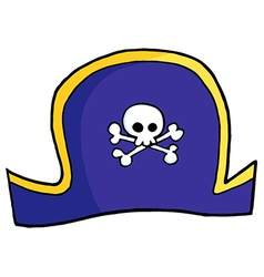 Pirate hat vector image