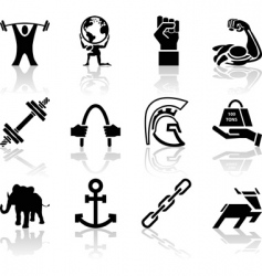 strength icons vector image vector image
