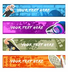 urban banner backgrounds set vector image