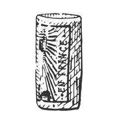 vintage engraved cork for bottle of wine hand vector image vector image
