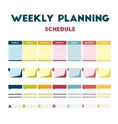 Weekly planning schedule vector image