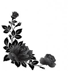 corner rose design vector image vector image