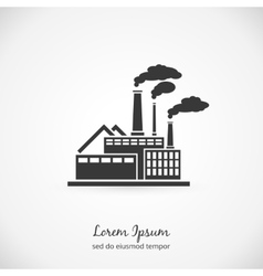 Factory logo vector image vector image