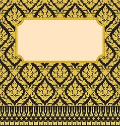 Frame with thai art vector