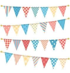 triangle bunting flags vector image vector image