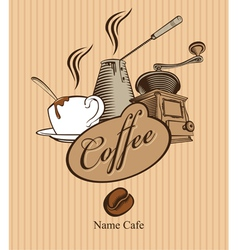 triple coffee vector image vector image