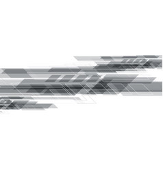 Abstract grey geometric creative design on white vector