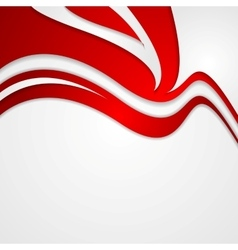 Abstract red wavy corporate background vector image