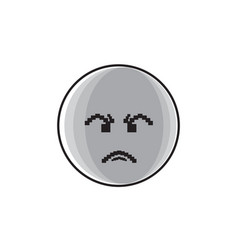 Angry cartoon face negative people emotion icon vector