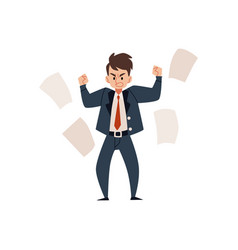 angry employee man businessman or boss in a suit vector image